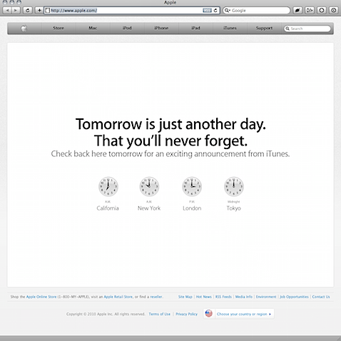 apple itunes teaser Appleらしさ