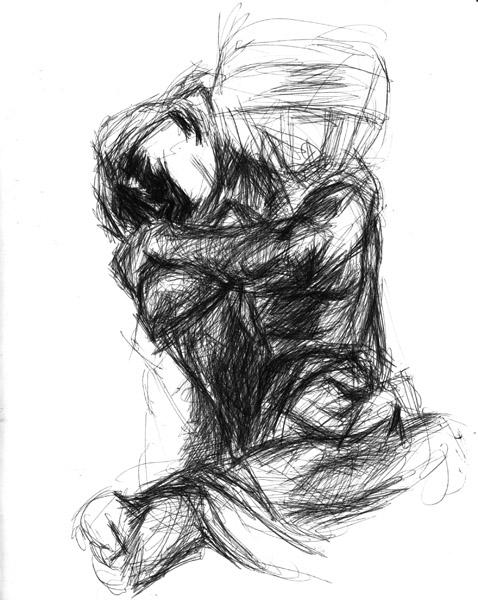 5. Auguste Rodin, Fallen Caryatid with Urn