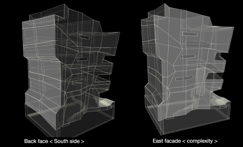 7. Side facades