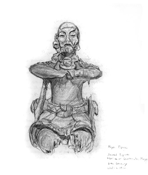 8. Maya wooden figure